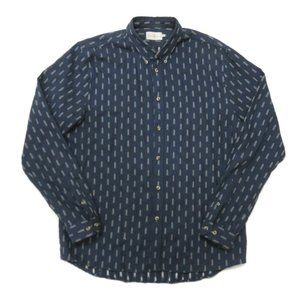 Cuisse de Grenouille Button Up Shirt Mens XL Blue